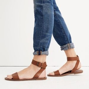 Madewell Boardwalk Ankle Strap Sandal